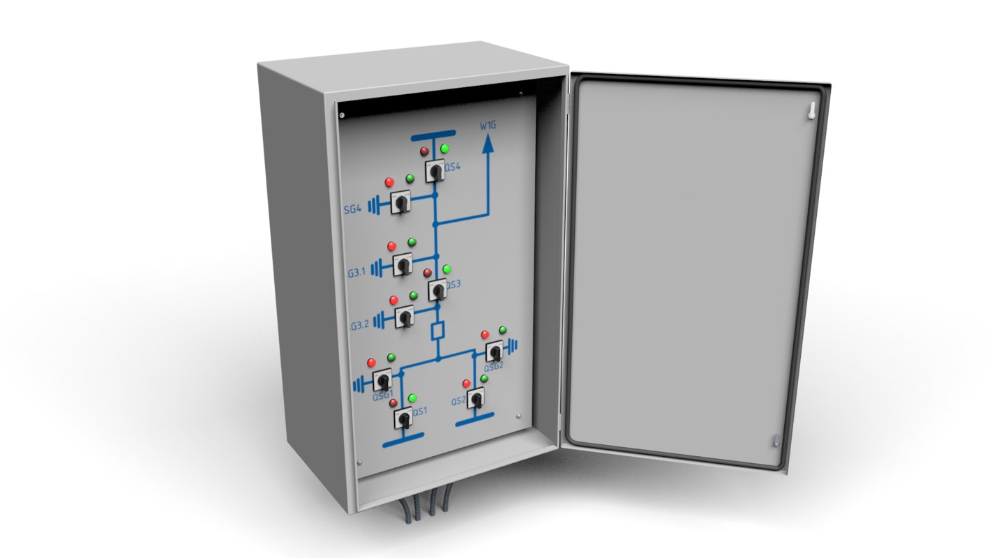 Disconnect switches remote control cabinet