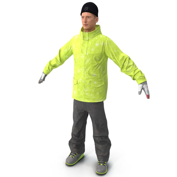 Man in Winter Clothes 3D Models