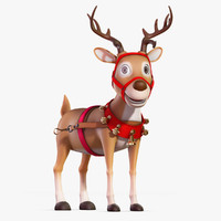 cartoon reindeer 3D models
