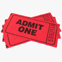 Ticket 3D models