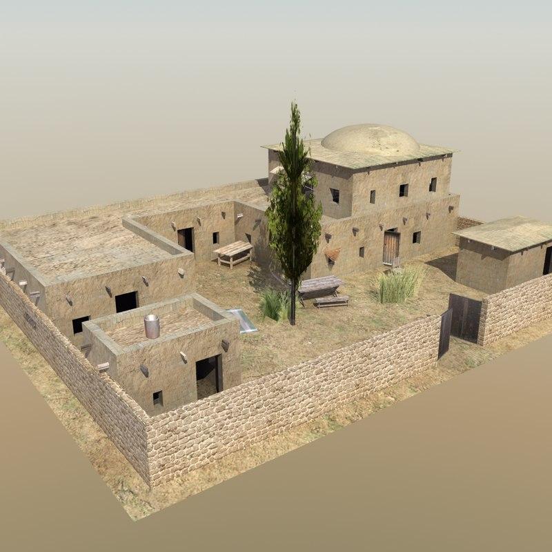 Desert Compound 3D House Models