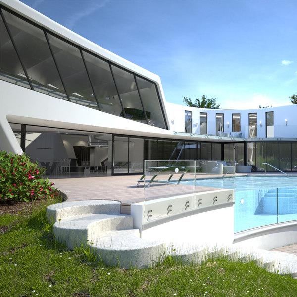 Modern Villa HQ 3D Models
