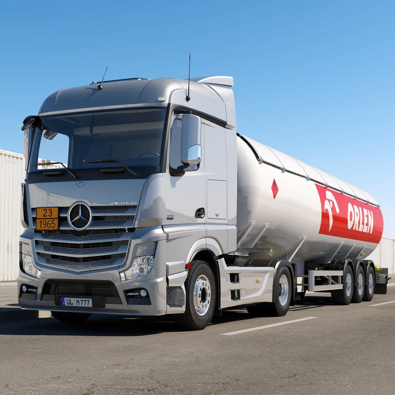 Mercedes Actros Gas Tank