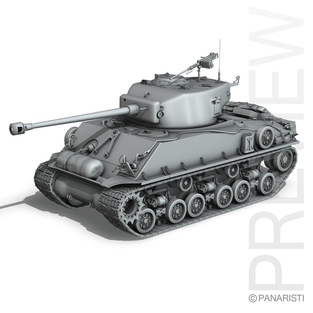 M4a3e8 Easy Eight Sherman 3d M4a3e8 Sherman Easy Model