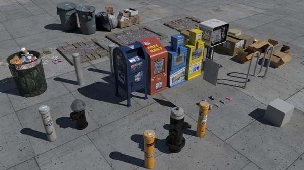 NYC Street Items 3D Models
