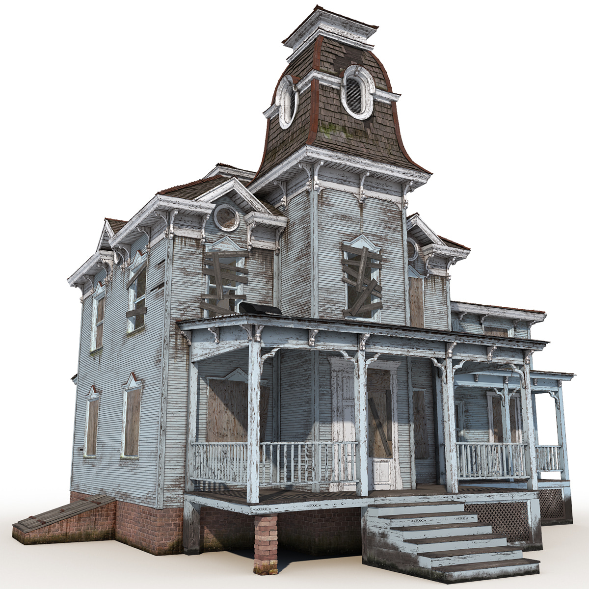 3d model haunted house 3d house building