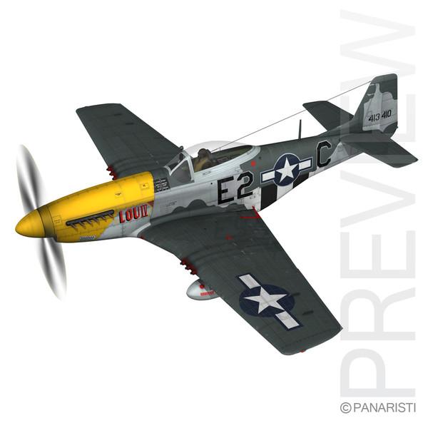 North American P-51D Mustang - Lou IV 3D Models