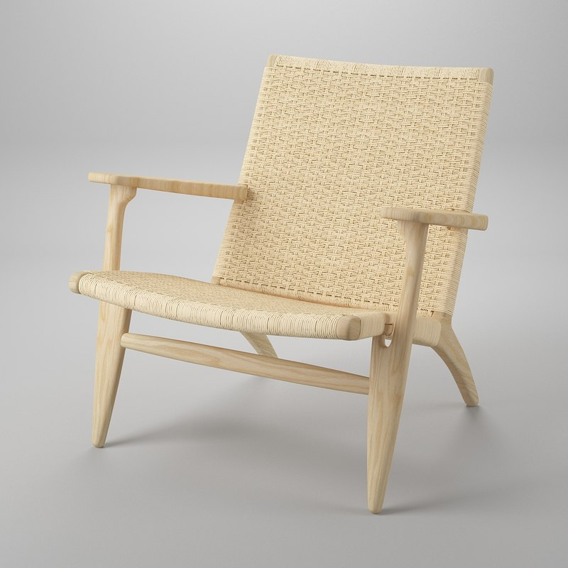 3d chair hans j wegner model
