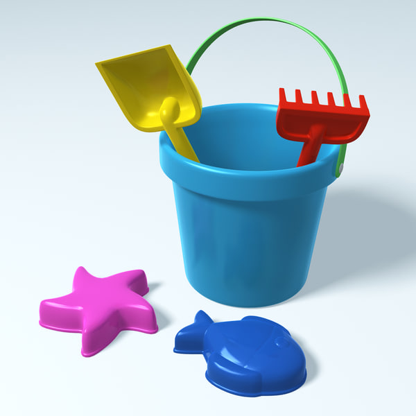 Sand Beach Toys 3D Models