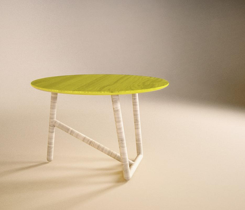 Free coffee table design moroso 3d model for Table design 3d model