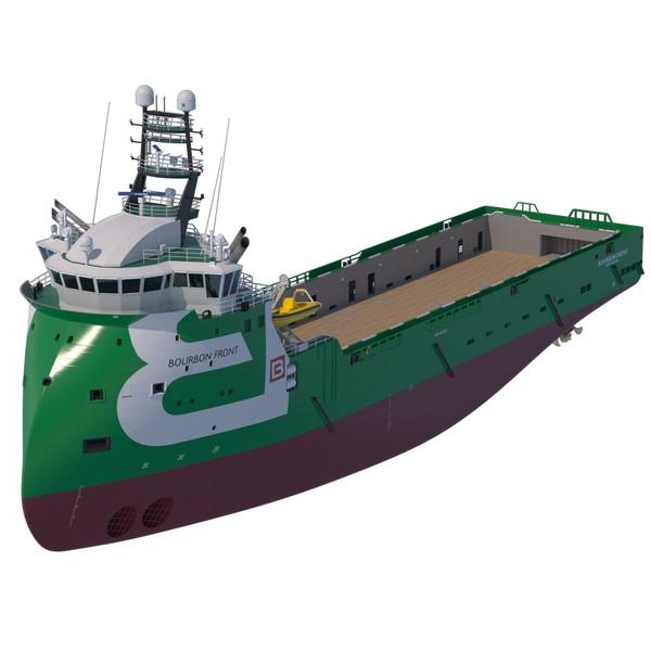 Platform Supply Vessel BOURBON FRONT 3D Models