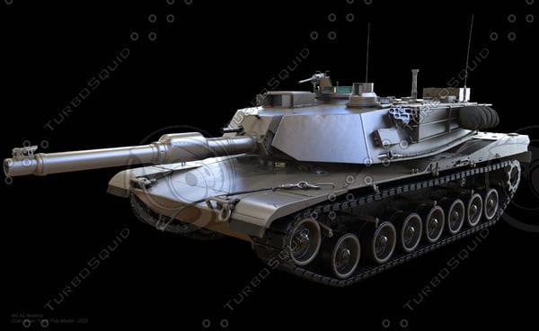 M1 A1 Abrams 3D Models