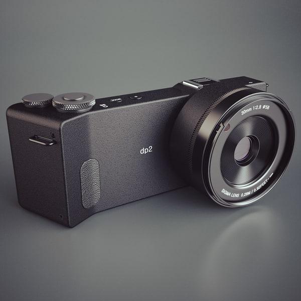 Sigma DP2 Quattro Digital Camera 3D Models