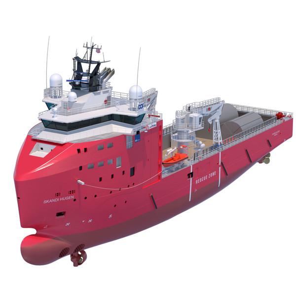 Multi Role Vessel Skandi Hugen 3D Models
