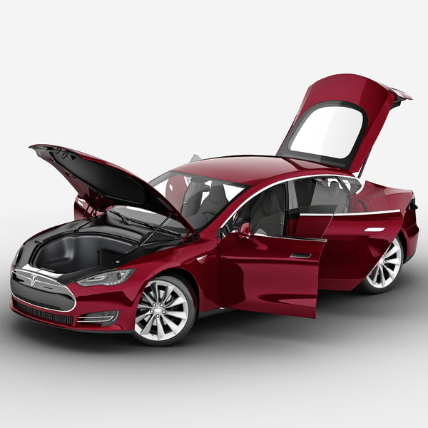 Tesla Model S 2014 Rigged 3D Models