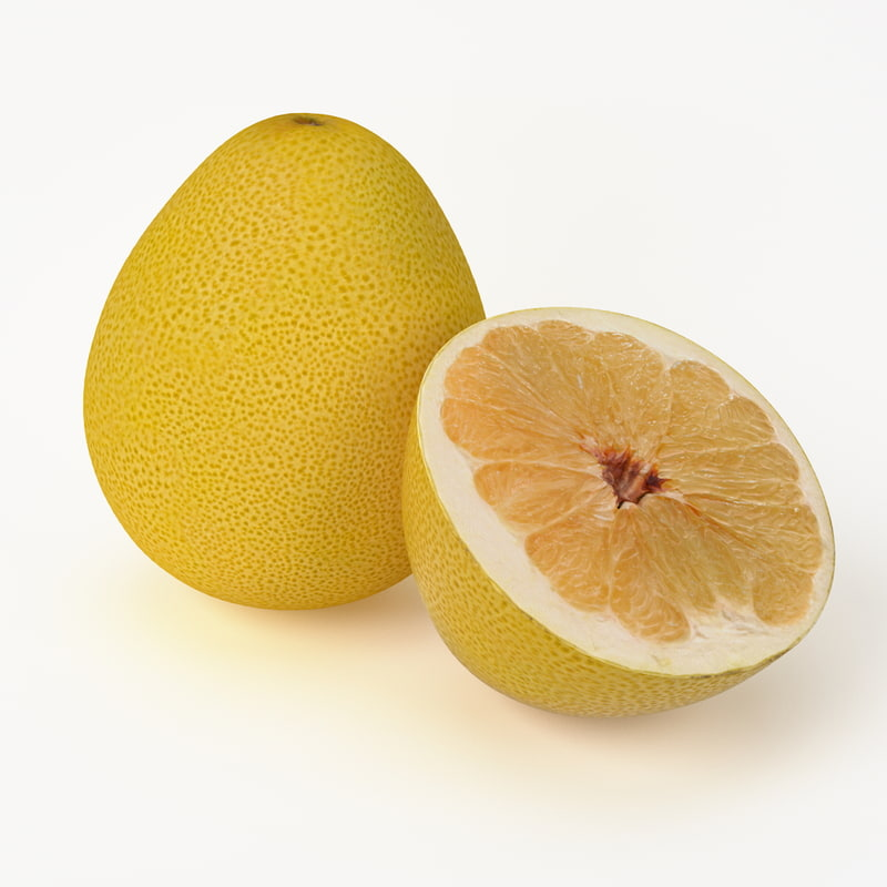 realistic pomelo fruit real 3d max