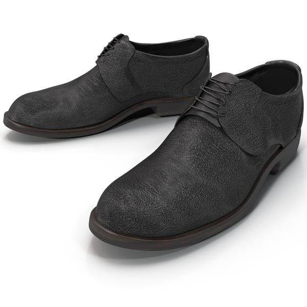 Mens Black Shoes 3D Models