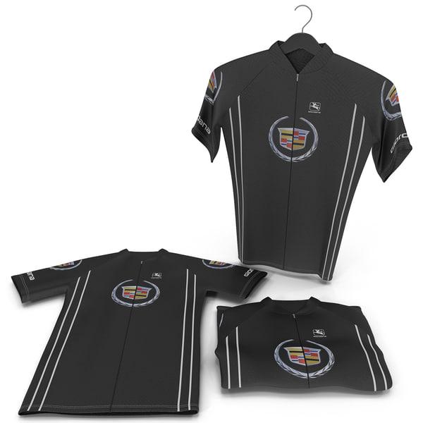 Cyclist T-Shirts Set 3D Models