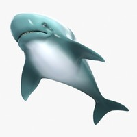 cartoon whale 3D models