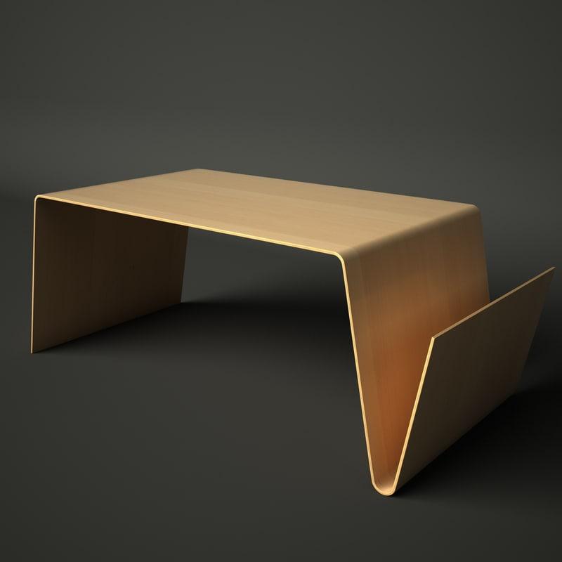 Table magazine rack 3d model for Table 52 2014