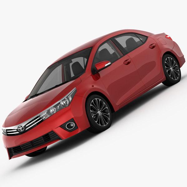 Toyota Corolla E170 Live 2014 3D Models