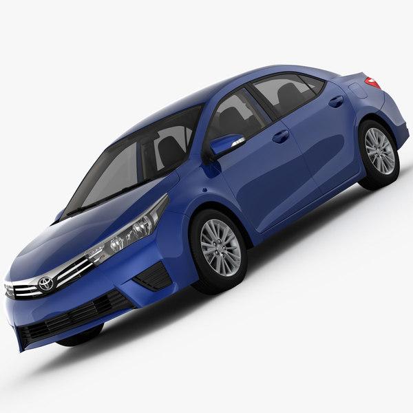 Toyota Corolla E170 Lounge 2014 3D Models