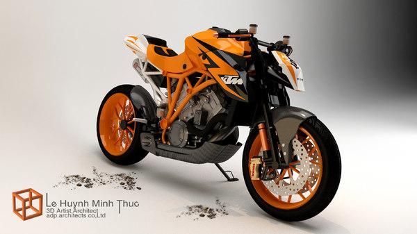 KTM 1290 R Prototype 3D Models