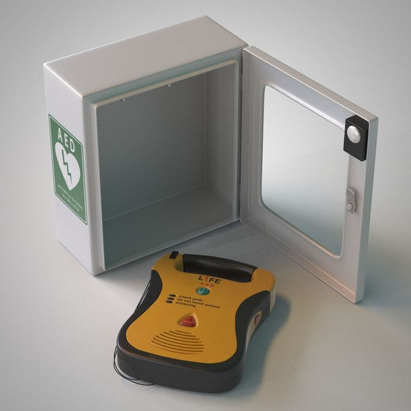 Automated External Defibrillator AED 3D Models