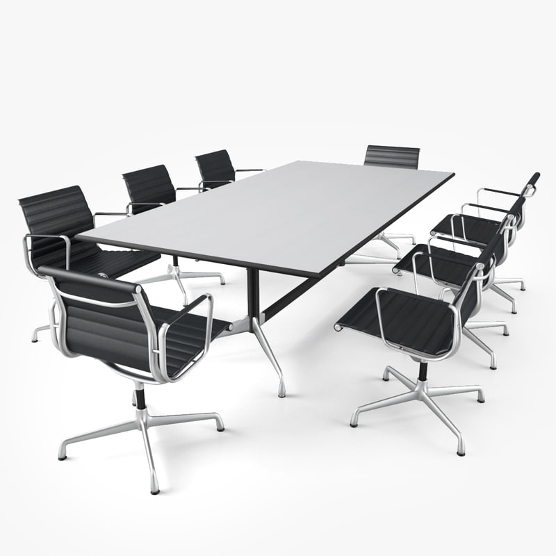 Vitra conference table 3d obj for Meeting table design 3d