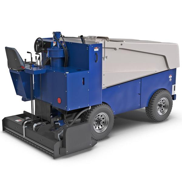 Zamboni 552 Ice Machine 3D Models