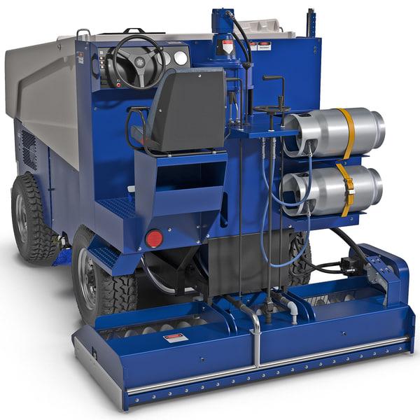 Zamboni 525 Ice Machine 3D Models