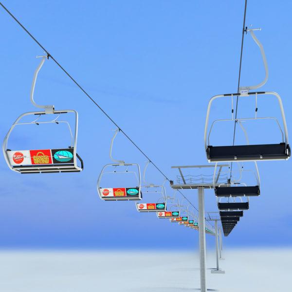 Ski Lift 3D Models