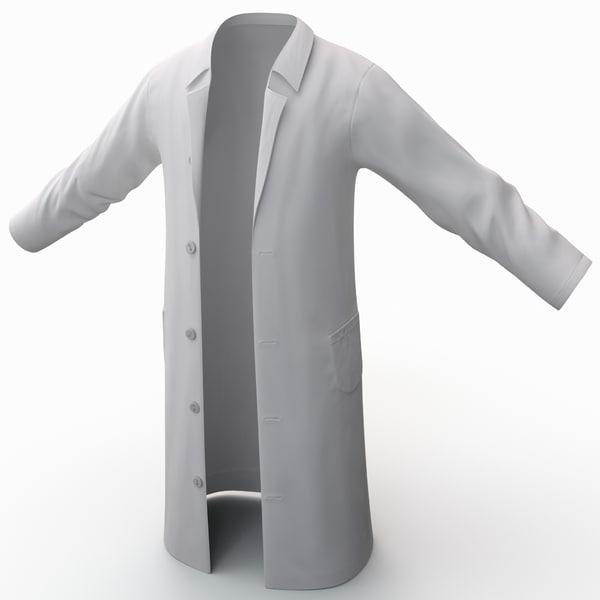 White Lab Coat 2 3D Models