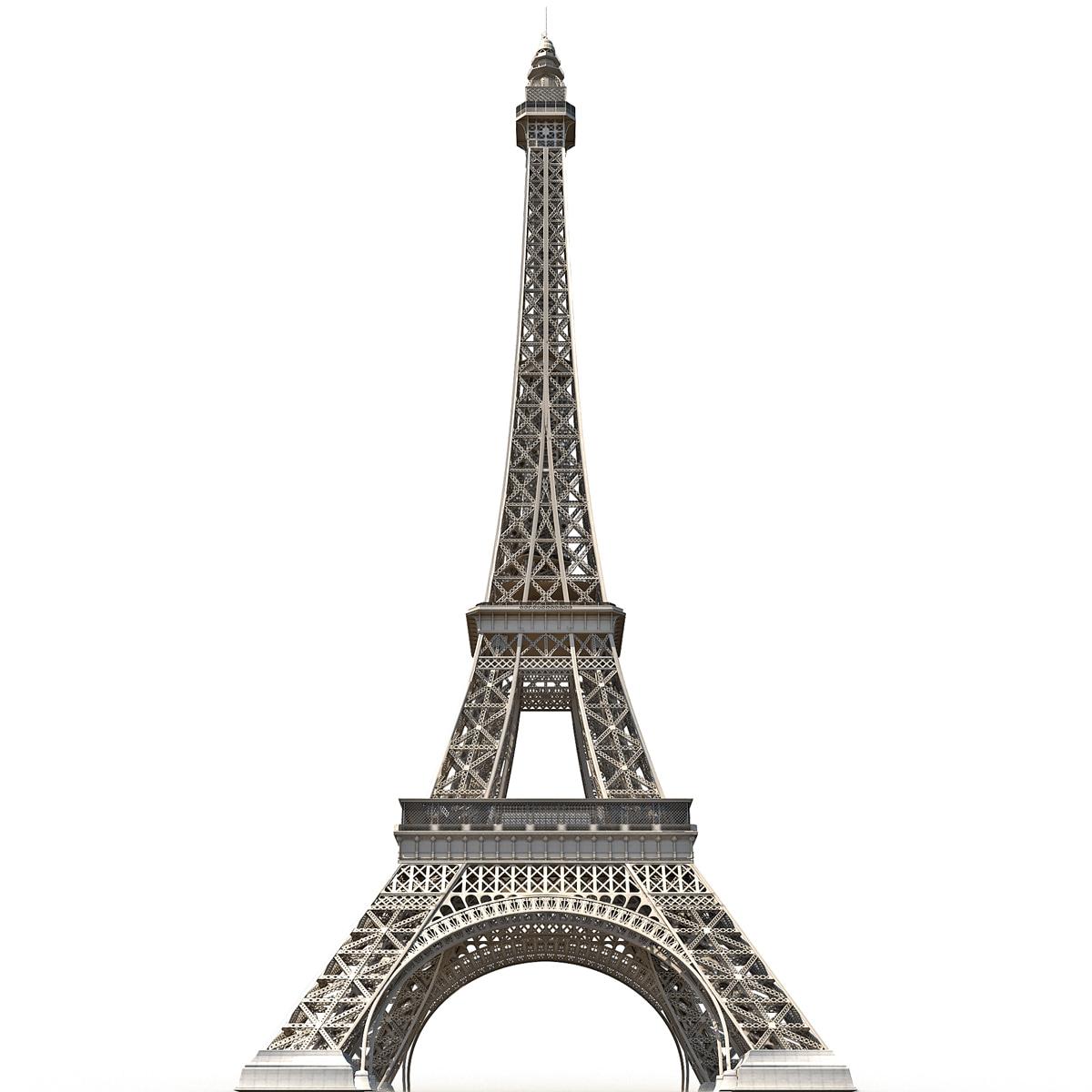 005 Eiffel Tower Low Poly Brand Dc