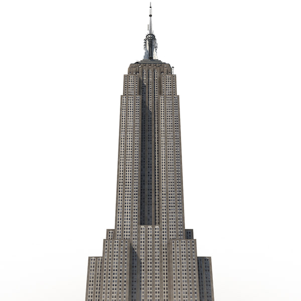 Empire State Building Low-Poly 3D Models