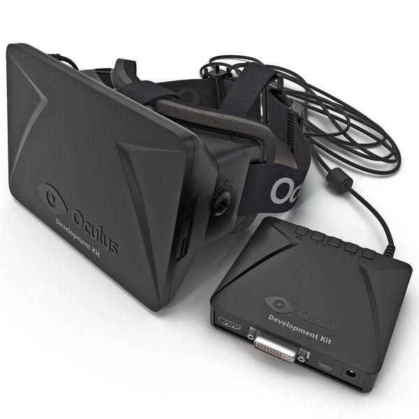 Oculus Rift Dev Kit 3D Models