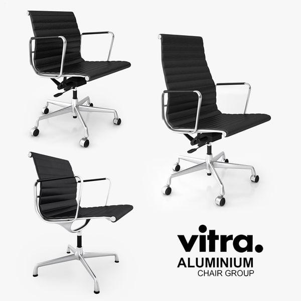 Vitra Aluminium Chair Group 3D Models