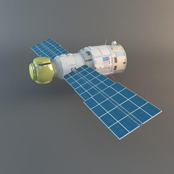 Zvezda Service Module Of ISS 3D Models
