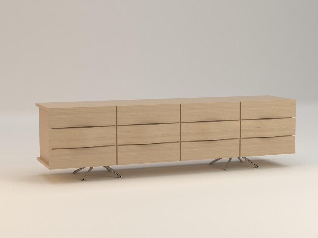 boconcept ottawa sideboard 3d model. Black Bedroom Furniture Sets. Home Design Ideas