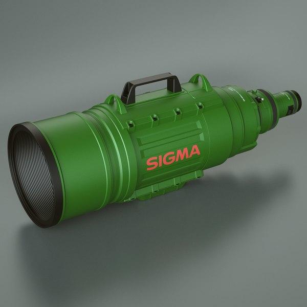 Sigma APO Camera Lens 3D Models