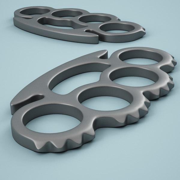 Brass Knuckles 04 3D Models