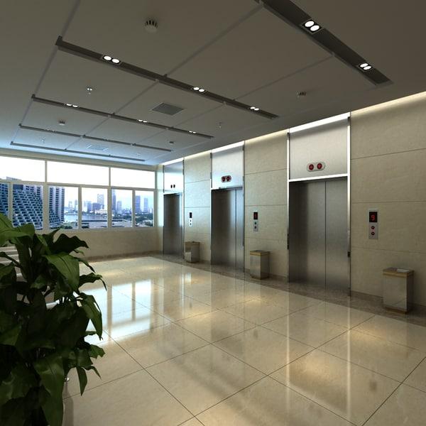Elevator Lobby 3D Models