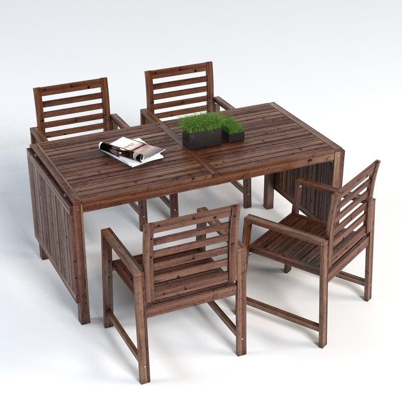 3ds Max Ikea Applaro Tableset