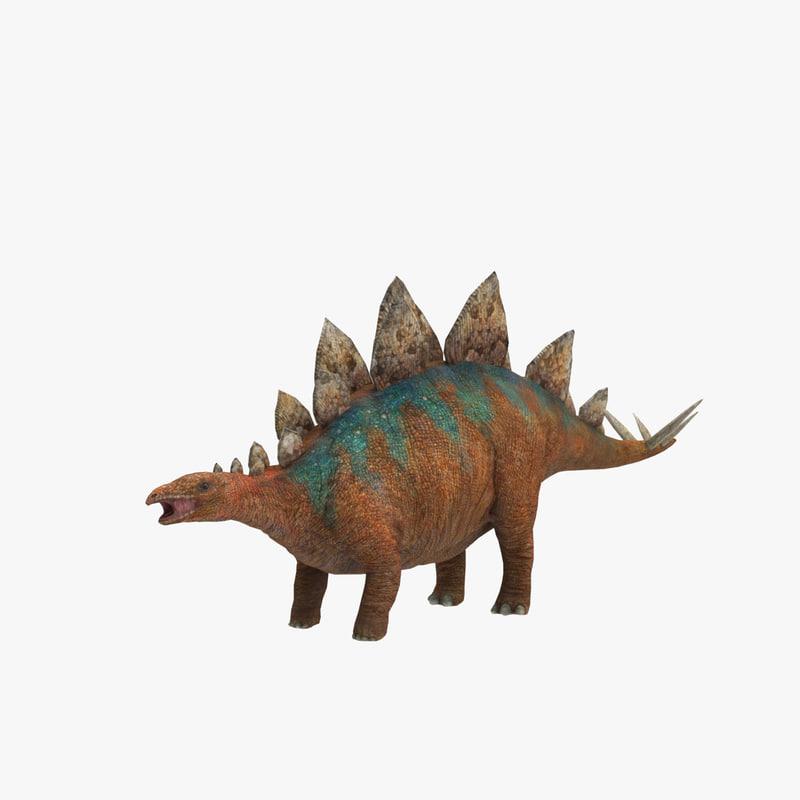 stegosaurus 3d max