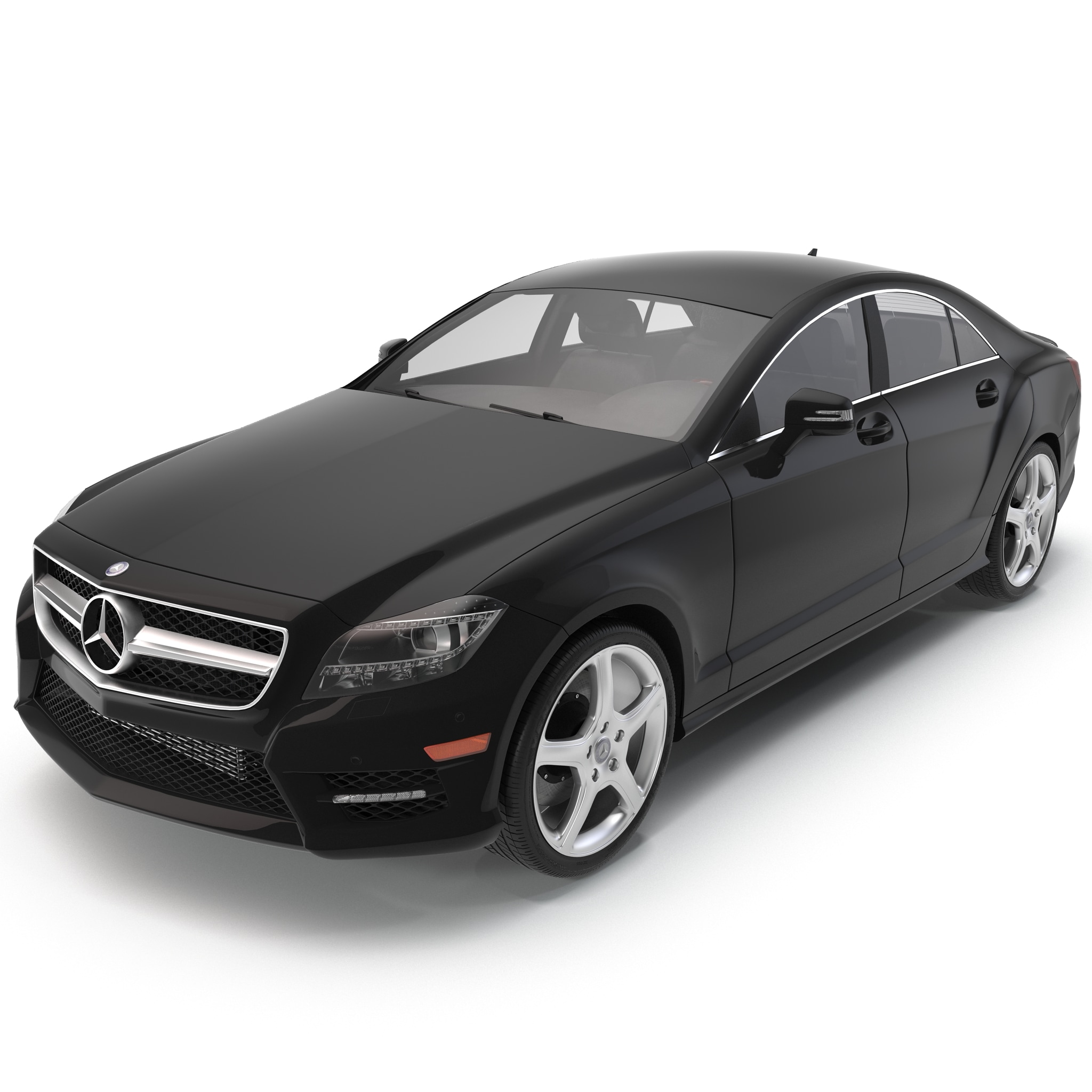 Mercedes benz cls class coupe 2014 3d model for Mercedes benz c class models