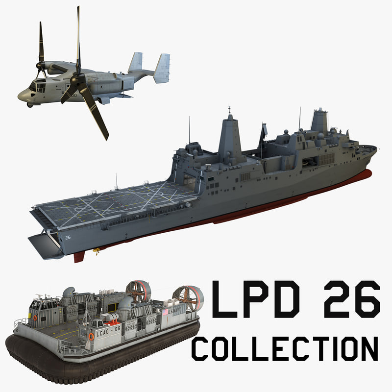 uss p lpd 26 3d model