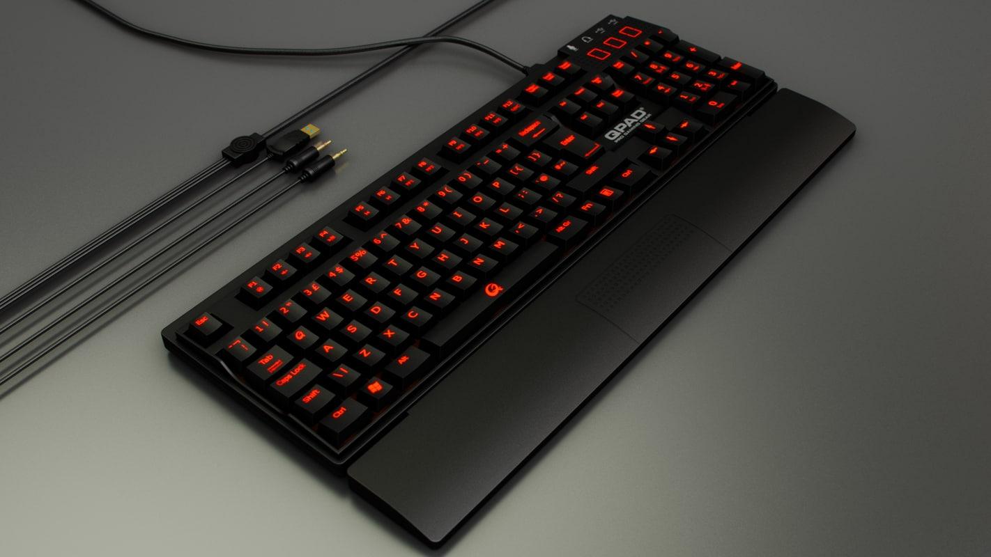 3d model of qpad keyboard