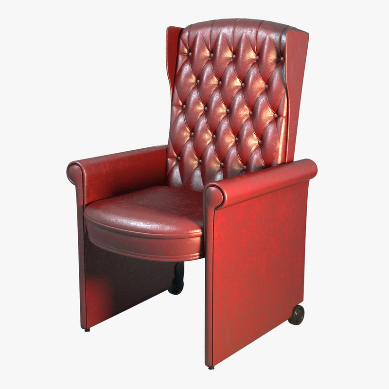 Leather chair Taglio