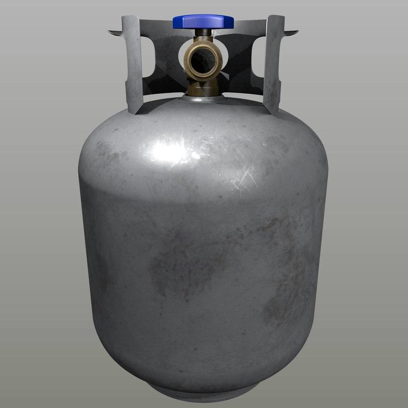 propane tank 3d model