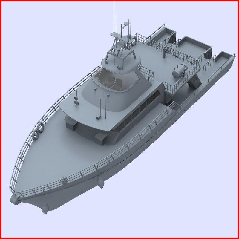 3d model boat launch